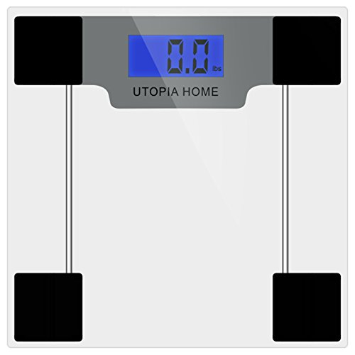 Utopai Home Digital Glass Bathroom Scale with Thick Tempered