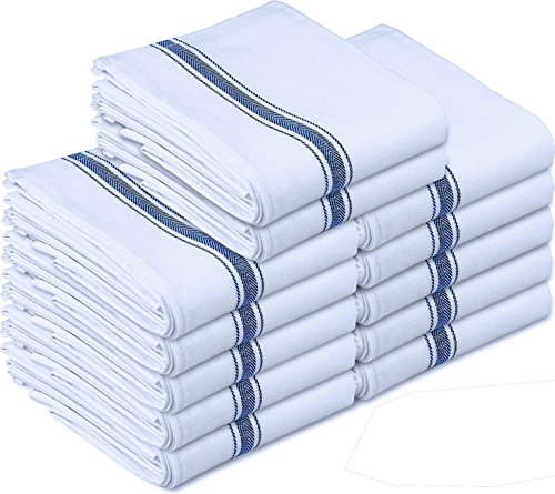 Kitchen Towels Dish Cloth (12 Pack) Machine Washable Cotton