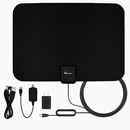 TV Antenna, Vansky Indoor Amplified HDTV Antenna 50 Mile