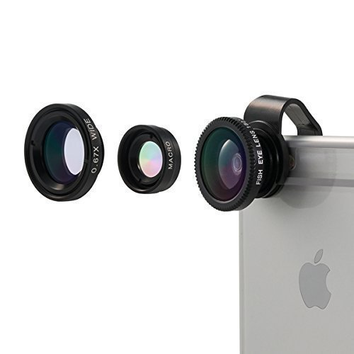 Camera Lens, Vinsic® Universal Detachable 180°Fish Eye Lens Wide