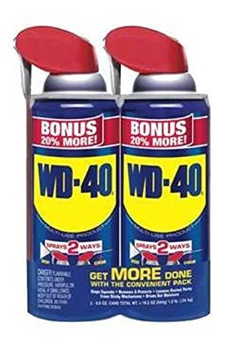 WD-40 250012 Multi-Use Product BONUS Twin-Pack Can, 9.6 oz