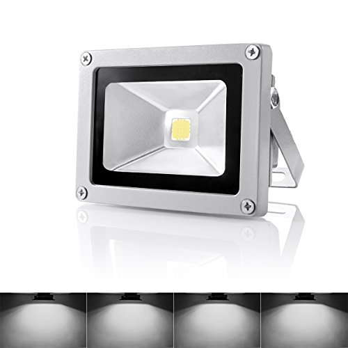 Warmoon Outdoor LED Flood Light, 10W Daylight White 6500K