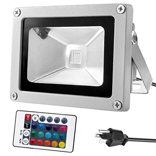 Warmoon 10W Waterproof LED Flood Light with US 3-Plug