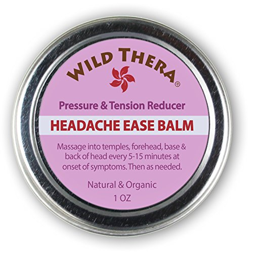 Headache Migraine Relief. Herbal Balm with Essential Oils. Tension
