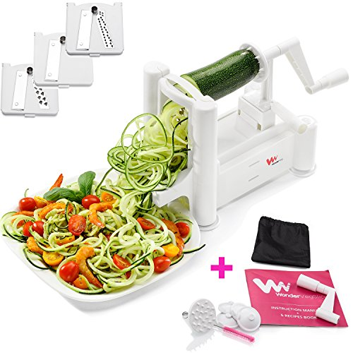 WonderVeg Spiralizer Vegetable Slicer - Tri Blade Spiral Slicer
