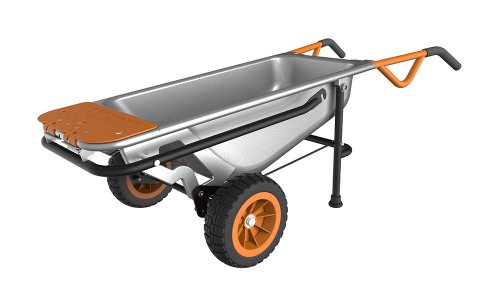 WORX Aerocart Multifunction 2-Wheeled Yard Cart, Dolly, and Wheelbarrow