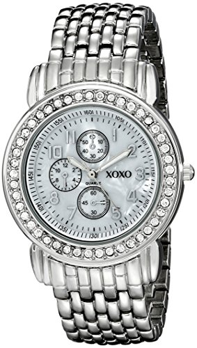 $19.99 XOXO Women's XO5314  Silver-Tone Rhinestone-Accented Watch