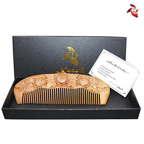 Xuanli® Wood Combs Natural Green Sandalwood Combs Top Quality