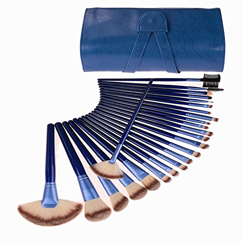 24 Piece Makeup Brushes Set | Horse Hair Professional