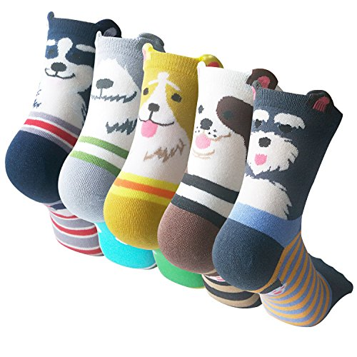 Pack of 5 Sweet Animal Design Women's Casual Comfortable