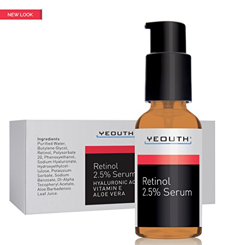 Retinol Serum 2.5% with Hyaluronic Acid, Aloe Vera, Vitamin