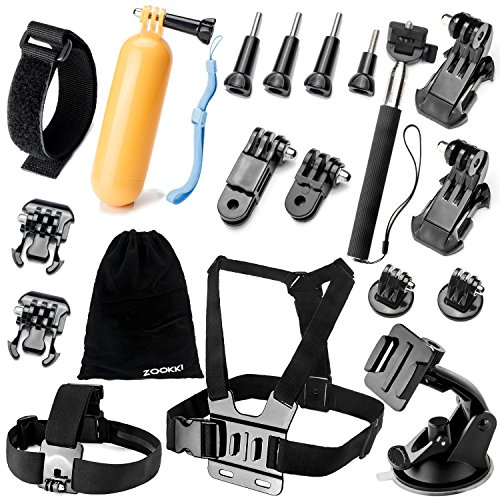 Zookki Accessories Kit for GoPro Hero 5 4 3+