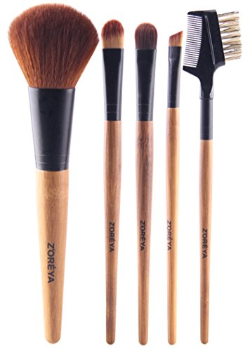 Makeup Brush Set - 5 Piece Basic Essential No
