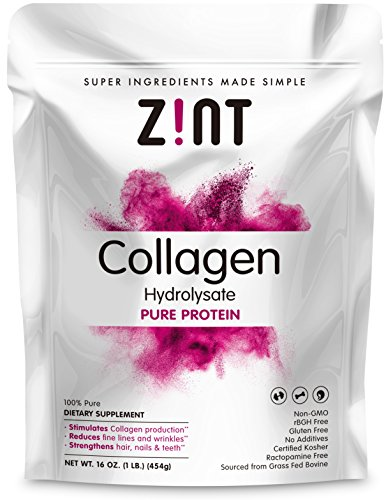 Zint Beef Collagen Powder: Grass-Fed Hydrolyzed Protein Supplement (1