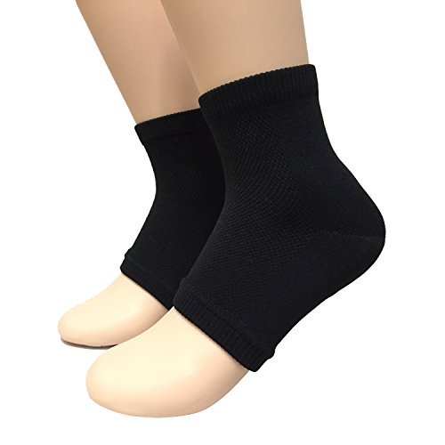 acebone Beauty Spa Moisturizing Gel Heel Socks for Dry