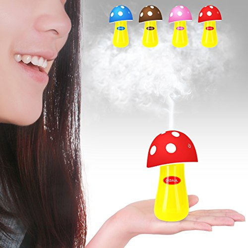 Ultrasonic Cool Mist Humidifier,Dizaul Mushroom Humidifier 200ml for skin