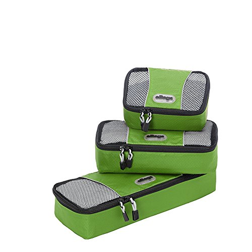 eBags Slim Packing Cubes - Assorted 3PC Set (Grasshopper)