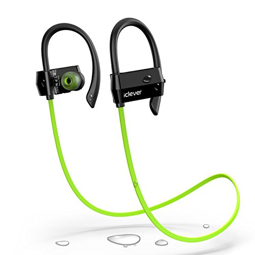 iClever Bluetooth Headphones with Silicone Earhook Secure Fit for