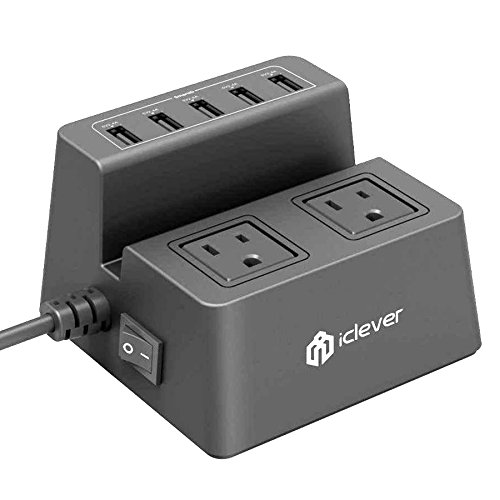 iClever BoostCube 8A 5-Port USB Desktop Charger with 2