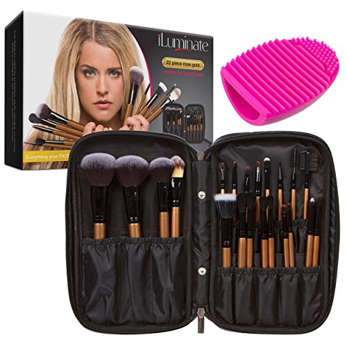 iLuminate 22pc Makeup Brush Set – Premium Gift Box
