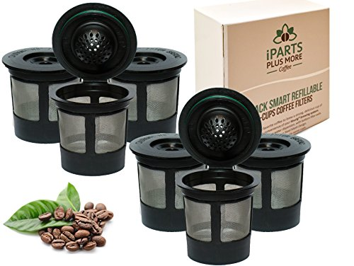 6 Reusable Single Cup Keurig Solo Filter Pod Coffee