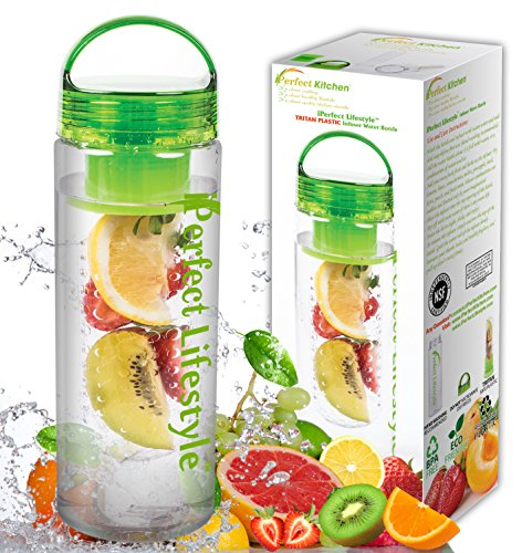 iPerfect Lifestyle Infuser Water Bottle - Made with Commercial
