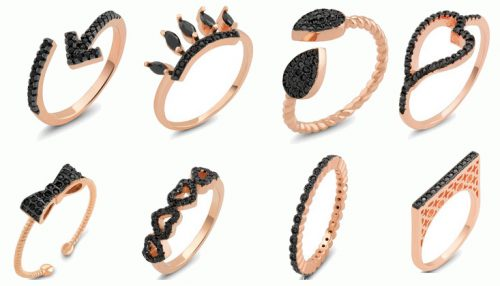 Get Free Rose & Black CZ Rings!