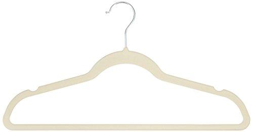 AmazonBasics Velvet Suit Hangers, 50-Pack, Beige