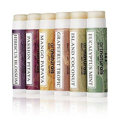 ArtNaturals Natural Lip Balm Beeswax, Assorted Flavors 0.15oz Each-Best