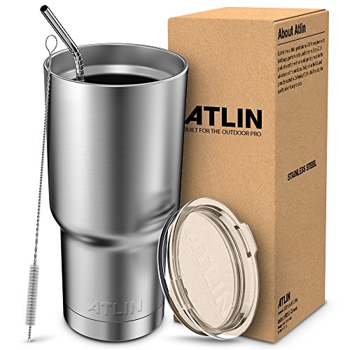 ATLIN Tumbler [30 oz. Double Wall Stainless Steel Vacuum