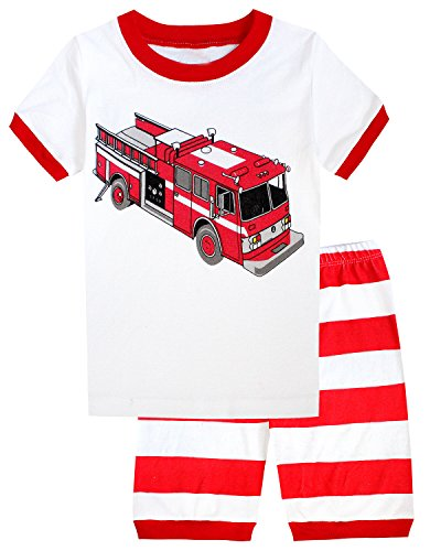 Boys Pajamas Fire Little Kids Pjs 100% Cotton Toddler
