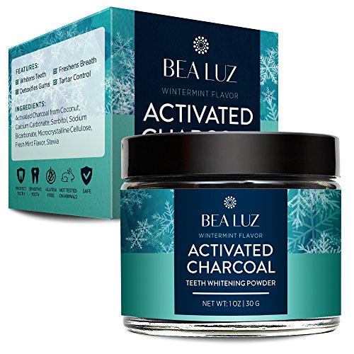 Activated Charcoal Teeth Whitening Powder Made with Organic Coconut