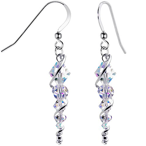 Body Candy Handcrafted 925 Silver Icicle Drop Earrings Created