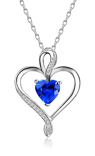 Caperci 925 Sterling Silver Heart Necklace Pendant Made with