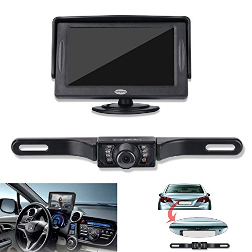 Backup Camera and Monitor Kit For Car,Universal Wired Waterproof