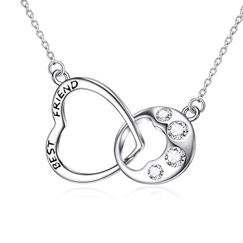 925 Sterling Silver Lucky Dog Paw Print Necklace Love