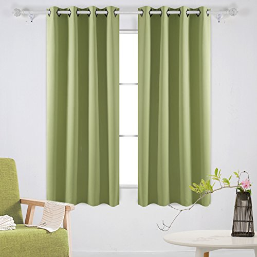 Deconovo Room Darkening Panels Thermal Blackout Curtains Grommet Insulated