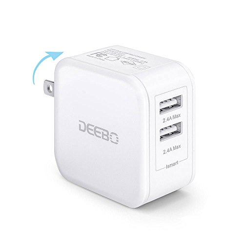 Deebo 4.8A 24W Dual USB Universal Wall Charger Adapter