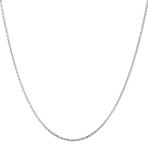 925 Sterling Silver 2MM Rope Chain Lobster Claw Clasp