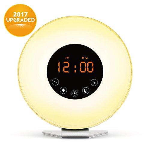 Wake Up Light, Digital Sunrise Alarm Clock-[2017 Upgraded] with