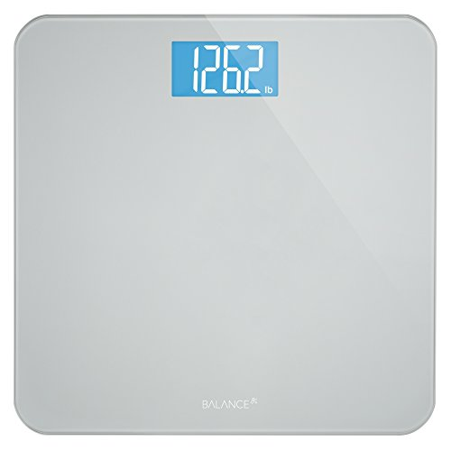 Digital Body Weight Bathroom Scale by Balance, Large Glass