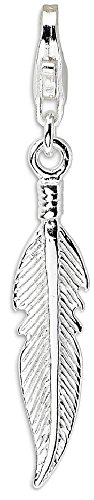 IceCarats 925 Sterling Silver 3 D Feather Lobster Clasp