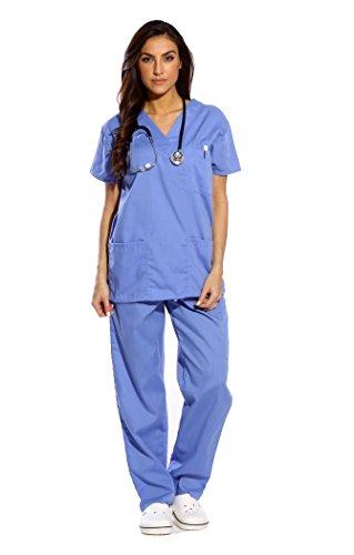 Just Love Women\'s Ceil Blue Scrub Set - Large,Ceil,Large