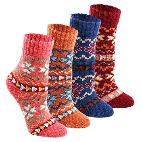 Keaza Women\'s Vintage Style Cotton Knitting Wool Warm Winter