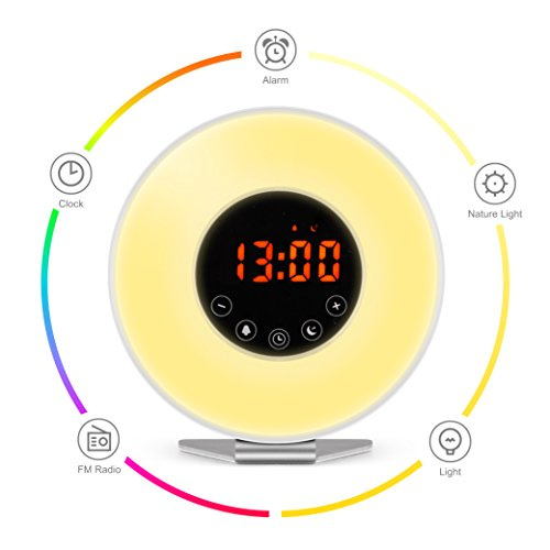 Wake Up Light Alarm Clock / Digital Clock –