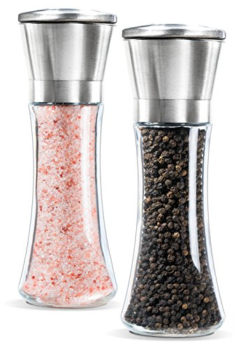 Premium Stainless Steel Salt and Pepper Grinder Set of