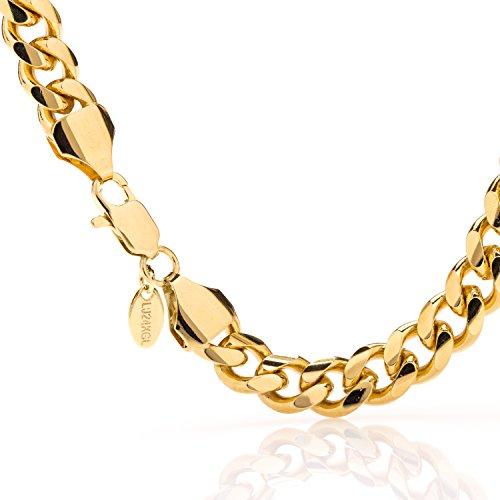 Lifetime Jewelry Cuban Link Bracelet, 11MM, Round 24K Gold