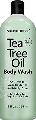 Antifungal Tea Tree Oil Body Wash Peppermint  Eucalyptus
