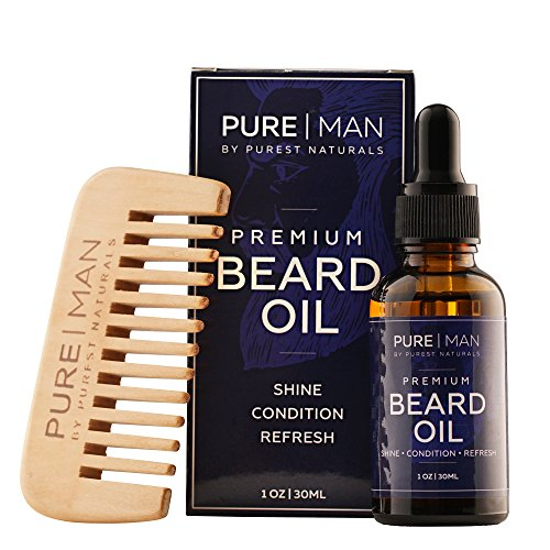 Purest Naturals Organic Beard Oil  Leave-In Conditioner -100%