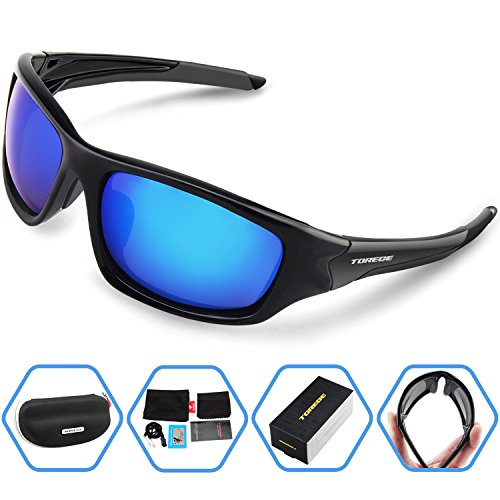 Torege Polarized Sports Sunglasses For Cycling Running Fishing Golf